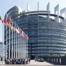The second picture has been taken in front of the Louise Weiss building (seat of the European Parliament, Strasbourg).