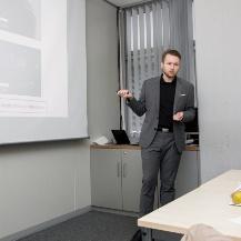 Martin Esmann gives his talk