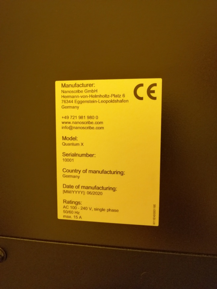Photo of the product sticker